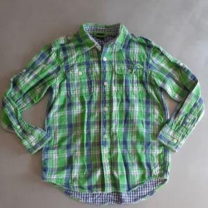 Gap Kids Boys size 10 button up flannel shirt